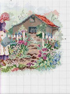 MÁS PUNTO DE CRUZ: jardines