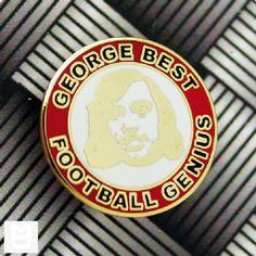 George Best Football Genius Metal Badge RW Badges, The Unit, Football, Fan, Metal, Soccer, Futbol, Badge, American Football
