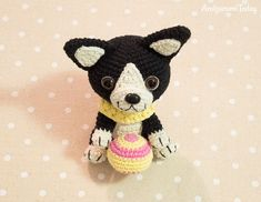 Boston terrier puppy - Free crochet pattern by Amigurumi Today