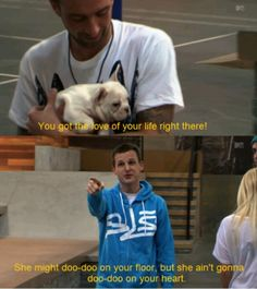Rob Dyrdek,  gots to admit he is one of my top celeb crushes.  So funny :-)