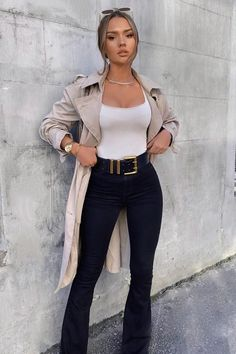 Deep In My Soul Flare Jeans – Black – fashion nova jeans outfits Mode Outfits, Trendy Outfits, Fall Outfits, Classy Chic Outfits, Classy Business Outfits, Classy Outfits For Women, Sexy Business Casual, Classy Going Out Outfits, Classy Style