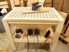 Shop Woodworking down draft table would work great for a steel welding/cutting table as well Woodworking Workshop, Woodworking Jigs, Woodworking Furniture, Woodworking Projects, Japanese Woodworking, Carpentry, Workshop Storage, Workshop Organization, Tool Storage