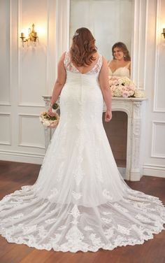 6571+ Plus Size Wedding Dress with Flared Skirt by Stella York