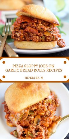 Sandwich Recipes, Lunch Recipes, Beef Recipes, Cooking Recipes, Pizza Recipes, Homemade Sloppy Joes, Sloppy Joes Recipe, Sandwich Torte, Pizza