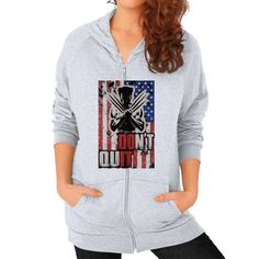Doit dont quit Zip Hoodie (on woman)