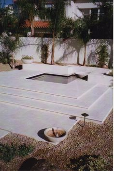 The perfect little spa area.  Love the clean lines and beautiful deck work.  See more at www.ancientstone.com