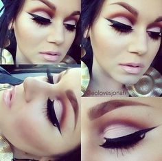 Her makeups really cute; I like the liner with the pink shadow really pretty and love the liner