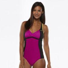 Nike Colorblock One-Piece Swimsuit - Women's