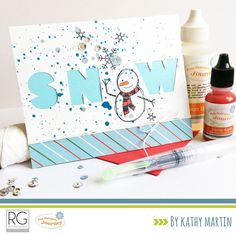 Snow by Kathy Martin for Journey Blooms using Fun Stampers Journey stamps, dies and supplies.