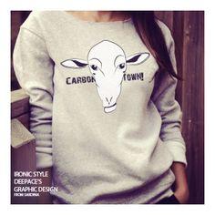 """Carbon Town"" sweatshirt street wear.  DeepAce's graphic design"