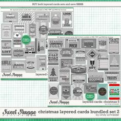 Cindy's Layered Cards: Christmas Bundle 2 by Cindy Schneider