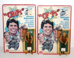 "1977 Mego Wheels Willy Jimmy Squeaks 3 3 4"" AF's w Packaging Chips TV Show 