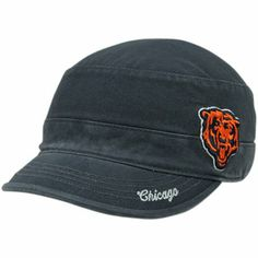 '47 Brand Chicago Bears Ladies Avery Military Adjustable Hat – Navy Blue