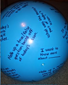 Gotta Love It: Middle School Madness!: Lesson Reflection Ball