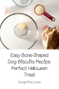 Looking for a fun homemade Halloween dog treat recipe similar to the milk bones that you buy in the store?