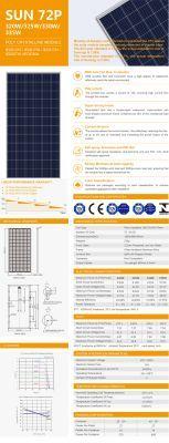 Panel Solar 330W 24V Sunergy Polycristalino 72 Celdas