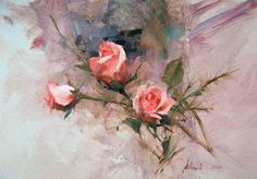 Oil painting by Richard Schmid