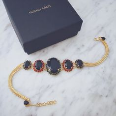 The Black Vintage Choker: A touch of  old world charm to this modern day choker. Hand-crafted  18k Gold plated choker with Searovski elements. . . Check all new jewellery now on  Shop  Online : http://ift.tt/1Y0ry6c International Orders:  Contact: order@maithilikabre.com