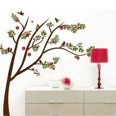 Flowering Cherry Tree Removable Vinyl Wall Sticker Decal Home Decor Dining Room | eBay