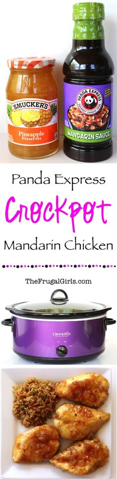 Easy Crockpot Panda Express Pineapple Mandarin Chicken Recipe! ~ from TheFrugalGirls.com ~ this Slow Cooker dinner is SO easy and super delicious!