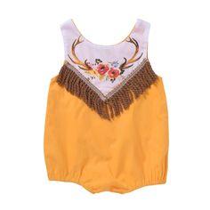 4a08495bd93 Cowgirl Fringe Romper. Baby Girl ...