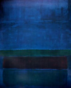 AZUL VERDE MARRÓN.  1951  ©MARK ROTHKO.