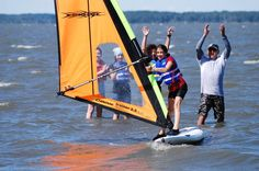 Windsurfing Lesson on Rehoboth Bay Learn to windsurf on the calm waters of Rehoboth Bay with this 2-hour beginner's windsurfing lesson! Learn from a certified instructor in a small-group setting as you master the winds and surf across the bay.Get out on the water with this 2-hour windsurfing lesson on Rehoboth Bay! Tailored for beginner windsurfers, this lesson inthe sport is the perfect introduction for newcomers.Under the direction of a US Sailing certified instructor, all...