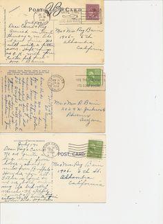 Vintage postcard backs