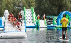 Discover Minnedosa posted online that Minnedosa Beach will be welcoming Manitoba's first-ever floating inflatable water park this summer. Splash Water Park, Inflatable Water Park, Floating Water, Splish Splash, Lifeguard, Rv, Tourism, Road Trip, Canada