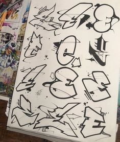 I've never done the study of a single letter before so I thought I'd give it a go. Pure form, black and white, no shadow or Graffiti Text, Wie Zeichnet Man Graffiti, Images Graffiti, Graffiti Writing, Graffiti Tagging, Graffiti Murals, Street Art Graffiti, Graffiti Artists, Graffiti Alphabet Styles