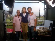 Chris posing for a pic with our crew at the MSNBC standup location overlooking Olympic park.