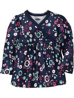Floral-Printed Tees for Baby