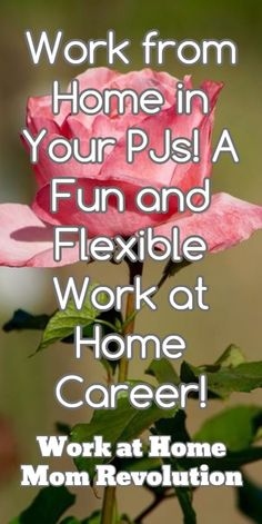 Work from Home in Your PJs! A Fun and Flexible Work at Home Career! / Work at Home Mom Revolution