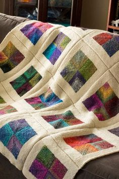 This would be lovely in wool patch work. - Best Knitting Pattern - This would be lovely in wool patch work. – Best Knitting Pattern This would be lovely in wool patch work. Loom Knitting, Knitting Patterns, Crochet Patterns, Patchwork Patterns, Patchwork Quilting, Knitted Afghans, Knitted Blankets, Cozy Blankets, Mitered Square