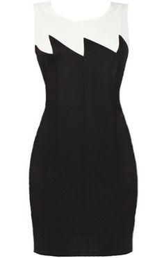 Rip Current Dress | Monochrome Zig-Zag Bodycon Dresses | Rickety Rack