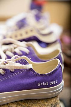 Custom Converse for the bride and bridesmaids