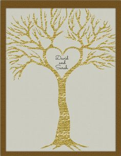Printable Foil Glitter Heart Tree Wall Art by DigitalConfectionery, $15.00