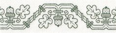 Acorn Border, designed by Jan Eaton, from Tom Pudding Designs.