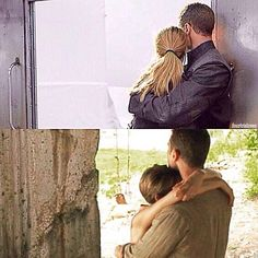 How I never noticed this before and let's hope that there will be hugs like this in Allegiant!