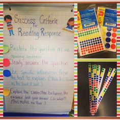 Using stickers to self-reflect on success criteria- colored pencils work, too!