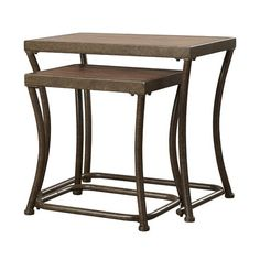 Bendeleben 2 Piece Nesting End Table Set Reviews ($121) ❤ liked on Polyvore featuring home, furniture, tables, accent tables, stacking side tables, stacking end tables, birchwood furniture, stacking tables and nesting end tables
