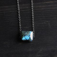 I love love love Labradorite! It's like a slice of Lake Tahoe frozen in a stone. Each slice of rock is different than another. Amazing! by Samantha Bird fab.com