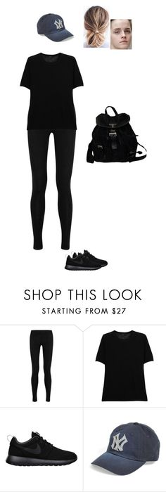 """Sem título #7451"" by gracebeckett on Polyvore featuring moda, Donna Karan, Joseph, NIKE, American Needle e Prada"