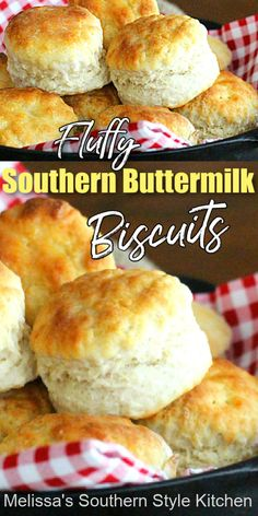 Southern Homemade Biscuits, Southern Buttermilk Biscuits, Homemade Buttermilk Biscuits, Buttermilk Recipes, Buttermilk Bisquits, Recipe For Homemade Biscuits, Easy Biscuits, Homemade Buns, Buttermilk Fried Chicken