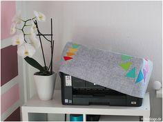 Paper Piecing: Meine neue Druckerhaube - modage