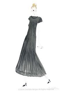 LBD - Watercolor Fashion Illustration