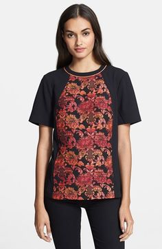 This is amazing in person!  Ted Baker London Jacquard Panel Top available at #Nordstrom