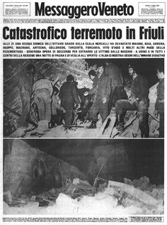 Terremoto in Ffriuli All Over The World, The Past, Do You Remember, Journal, Historical Photos, Geology, Newspaper, Nostalgia, In This Moment