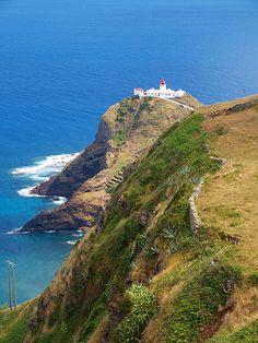 Farol perto de Maia  Santa Maria, Açores, Portugal