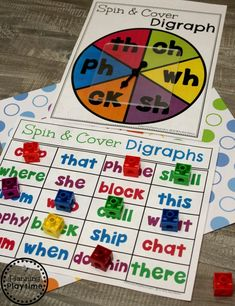 Consonant Digraphs Game - Spin and Cover Digraphs ActivityYou can find Phonics games and more on our website.Consonant Digraphs Game - Spin and Cover Digraphs A. Phonics Flashcards, Teaching Phonics, Phonics Worksheets, Phonics Activities, Kindergarten Activities, Teaching Reading, Teaching Resources, Dyslexia Activities, Physical Activities
